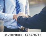 commitment relationship... | Shutterstock . vector #687678754