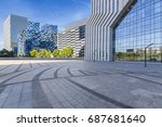 empty floor with modern... | Shutterstock . vector #687681640
