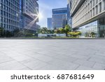 empty floor with modern... | Shutterstock . vector #687681649