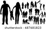 vector  isolated silhouette... | Shutterstock .eps vector #687681823