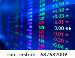 stock market graph and ticker... | Shutterstock . vector #687682009