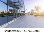 empty floor with modern... | Shutterstock . vector #687682288