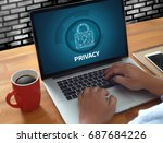 privacy access login...   Shutterstock . vector #687684226