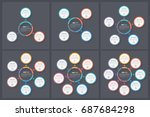 circle infographic templates... | Shutterstock .eps vector #687684298