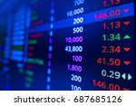 stock market graph and ticker... | Shutterstock . vector #687685126