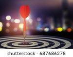 target dart with arrow over... | Shutterstock . vector #687686278