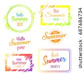 hello hot summer days and... | Shutterstock .eps vector #687686734
