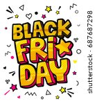 black friday comic speech... | Shutterstock .eps vector #687687298