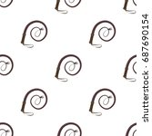 whip icon in cartoon style... | Shutterstock .eps vector #687690154