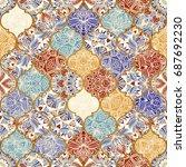 seamless ceramic tile with...   Shutterstock .eps vector #687692230