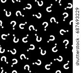 question mark seamless pattern .... | Shutterstock .eps vector #687693229