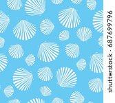 shell pattern  vector ... | Shutterstock .eps vector #687699796