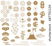 Japanese Icons  Crest Vector....