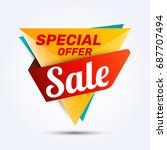 super sale discount banner... | Shutterstock .eps vector #687707494