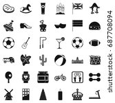 ball icons set. simple style of ... | Shutterstock .eps vector #687708094