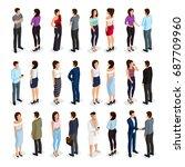 trendy isometric people 3d man ... | Shutterstock .eps vector #687709960