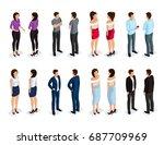 trendy isometric people 3d man ...   Shutterstock .eps vector #687709969