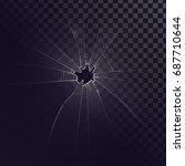 vector broken glass  cracks ...   Shutterstock .eps vector #687710644