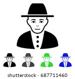 jew flat vector icon. colored... | Shutterstock .eps vector #687711460