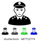 army general flat vector... | Shutterstock .eps vector #687712774