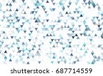 light pink  blue vector... | Shutterstock .eps vector #687714559