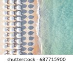 aerial view of amazing beach... | Shutterstock . vector #687715900