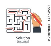 solution of problem in case.... | Shutterstock .eps vector #687719074