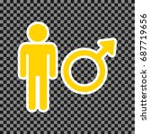 male sign illustration. vector. ... | Shutterstock .eps vector #687719656