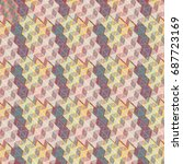 abstract color seamless pattern ... | Shutterstock .eps vector #687723169