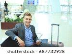businessman using digital...   Shutterstock . vector #687732928