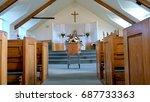 funeral casket  coffin burial ... | Shutterstock . vector #687733363