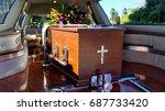 funeral casket  coffin burial ... | Shutterstock . vector #687733420