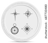 set of compass icon. | Shutterstock .eps vector #687733480