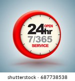 24hr services with clock scale... | Shutterstock .eps vector #687738538