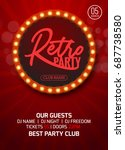 retro party poster design.... | Shutterstock .eps vector #687738580