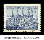 sweden   circa 1953  a stamp... | Shutterstock . vector #687739696