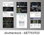 set of roll up banner stands ... | Shutterstock .eps vector #687741910