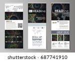 set of roll up banner stands ...   Shutterstock .eps vector #687741910