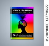quick learning brochure or book ... | Shutterstock .eps vector #687745300