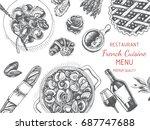 vector illustration sketch  ...   Shutterstock .eps vector #687747688