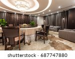 luxury dinning room interior | Shutterstock . vector #687747880