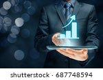 business growth analysis... | Shutterstock . vector #687748594