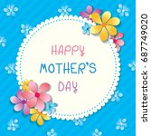 happy mother's day card design... | Shutterstock .eps vector #687749020