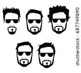 man face vector | Shutterstock .eps vector #687749890