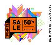 summer sale memphis style web... | Shutterstock .eps vector #687750958