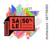 summer sale memphis style web... | Shutterstock .eps vector #687758383