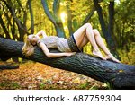 beautiful sexual young adult... | Shutterstock . vector #687759304