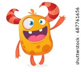 Happy Cartoon Funny Monster....