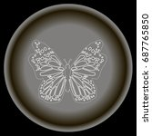 icon flat white buterfly in ... | Shutterstock .eps vector #687765850