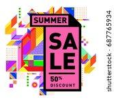 summer sale memphis style web... | Shutterstock .eps vector #687765934